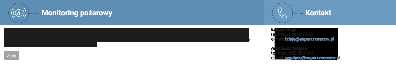 """PHT """"SUPON"""" Sp. z o. o. w Rzeszowie od 1996 roku świadczy na terenie woj. podkarpackiego oraz małopolskiego (powiat tarnowski) usługi monitoringu pożarowego obiektów. Transmisję sygnału alarmowego przesyłamy dedykowanymi torami transmisji sygnałów pożarowych (radiowym i telefonicznym). Całość transmisji sygnałów kontrolowane jest całodobowo przez centrum operatora."""