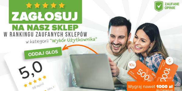 Zagłosuj na nasz sklep w rankingu zaufanych sklepów Ceneo.pl !