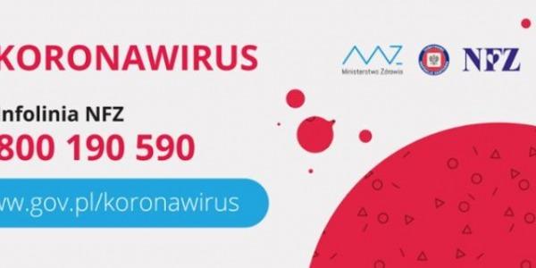 Ważna informacja w związku z koronawirusem!